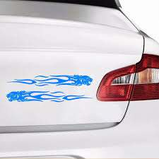Tiger Flame Totem Decals Diy Car Stickers Self Adhesive Vinyl Decal Sticker For Cars Decoration Walmart Com Walmart Com