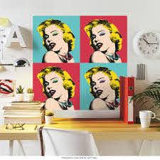Marilyn Monroe Warhol Style Wall Decal At Retro Planet