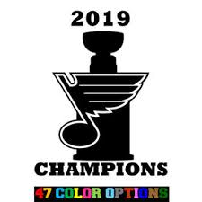 Oracal Vinyl Decal Truck Car Sticker Nhl Hockey St Louis Blues Stanley Cup 2019 Champ