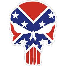 Confederate Flag Punisher Skull Sticker At Sticker Shoppe