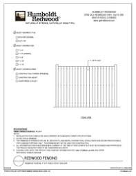 Building Product Redwood Fencing 103093d Arcat