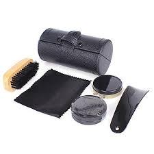 shoe care kit travel shoe shine brush