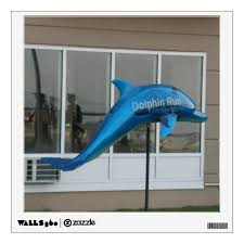 Blue Dolphin Wall Decal Zazzle Com
