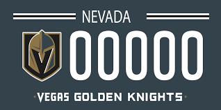 Vegas Golden Knights Mock License Plates Sinbin Vegas