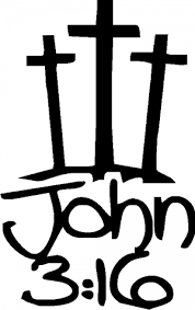 3 Crosses With John 3 16 Car Or Truck Window Decal Sticker Or Wall Art Decalsrock