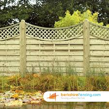 Concave Lattice Top Fence Panels 4ft X 6ft Brown Berkshire Fencing