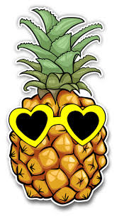 Pineapple Sticker With Heart Sunglasses For Laptop Computer Car Truck Window Decal Vinyl Junkie Graphics