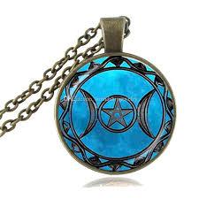 whole triple moon dess pendant