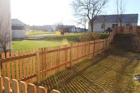 Bellbrook Fence Co On Twitter 48 Cedar Dog Eared Spaced Picket Fence Installed In Springboro
