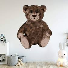 Vwaq Teddy Bear Wall Decals For Nursery Cute Kids Room Sticker Decor