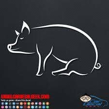Awesome Pig Vinyl Car Window Decal Sticker
