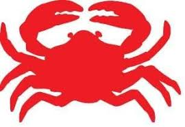 Amazon Com Vinyl Decal Crab Red Kitchen Dining