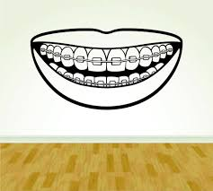 Dentist Dentistry Smile Sign Version 102 Decal Sticker Wall Boy Girl Ezwalldecals