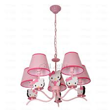 cute pink kids hello kitty 5 light