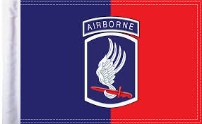 U S Army 173rd Airborne Motorcycle Flag