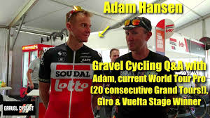 Gravel Cycling Q&A with Adam Hansen! World Tour Professional Cyclist -  YouTube