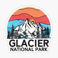 Glacier National Park Stickers Redbubble
