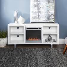manor park modern electric fireplace tv