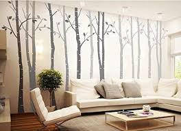 Amazon Com Designyours Set Of 8 Birch Tree Wall Decal Nursery Big White Tree Wall Deacl Viny Birch Tree Wall Decal Tree Wall Decal Tree Wall Decal Living Room
