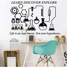 Wall Stickers And Murals Science Chemical Lab Learn Discover Explore Wall Decal Classroom School Chemistry Science Inspirational Wall Sticker 84 56cm Wish