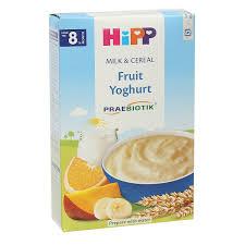 Bột ăn dặm HiPP sữa chua hoa quả nhiệt đới cho bé từ 8 tháng - Kids Plaza