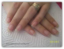 natural nails with acrylic overlay by