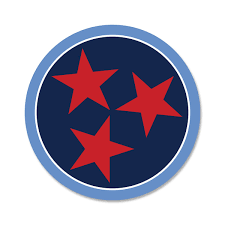 Light Blue Navy Tri Star 3 Inch Decal Tennessee Titans Football Fan Tennessee Shirt Company