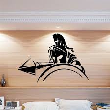Greek Spartan Warrior Pike War Wall Decal Wall Sticker Home Art Deco Mural Vinyl Nursery Kids Room Wall Sticker My176 Buy At The Price Of 5 99 In Aliexpress Com Imall Com