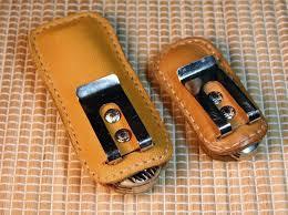 nice pocket knife sheath in leather