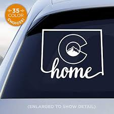 Amazon Com Colorado State Home Decal With Stylized Colorado Flag In Middle Of Decal Co Flag Home Car Vinyl Sticker Made With Outdoor Vinyl Handmade