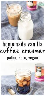 paleo vanilla coffee creamer vegan
