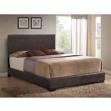 ireland queen faux leather bed brown