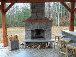 build a stone fireplace outside diy