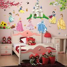 Castle Princess Wall Stickers Fairy Tale Cartoon Decor 3d Decal Kids Room For Sale Online