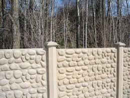 Crete Co Concrete Fence Photos River Rock