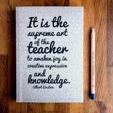 teacher gift writing journal einstein quote gra folksy