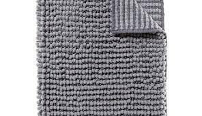 black and white striped bathroom rug