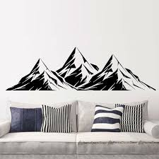 Cool Graphics Vinyl Wall Decal Mountains Room Decoration Home Decor Art Culture Mural Diy Large Stickers For Walls Large Vinyl Wall Decals From Langru1002 8 35 Dhgate Com