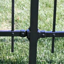 Us Door Fence Pro Series 1 75 In X 3 25 In Black Powder Coated Steel Fence Swivel Mounting Bracket 2 Pack Smbfus The Home Depot
