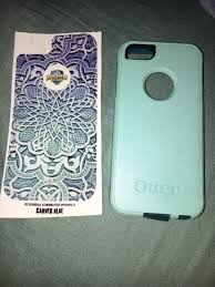 Iphone 5s Otter Box Aqua Mint Dark Teal Color With Skin Decal Otterbox Http Phones Goshoppins Com Phones Cases Iphone Iphone Phone Cases Otter Box Iphone 6