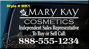 12x9 Mary Kay Cosmetics Decal Sticker Car Window Sign On Popscreen