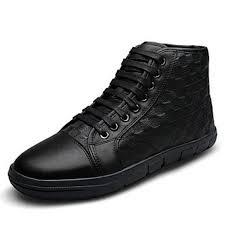 mens leather hi tops