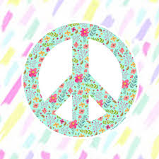 Peace Flower Sticker Decal Vinyl Stickers For Laptops Car Decals Peace Sign Sticker Phone Sticker Hippie Sticker Flower Peace Sign