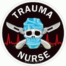 Trauma Nurse Sticker At Sticker Shoppe