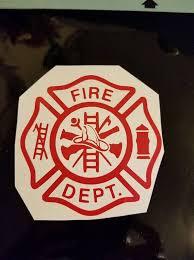 Firefighter Fire Dept Decal Sticker For Car Truck Etsy