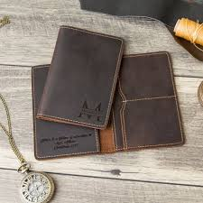 engraved passport holder personalized