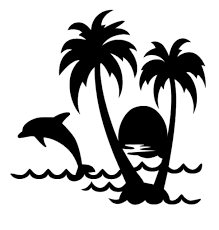 Uber Decals Vinyl Wall Decal Sticker Palm Tree 2 233 85x39 Inches Silver For Sale Online Ebay
