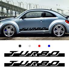 Amazon Com Autotoper Car Side Door Skirt Strip Sticker Decals For Volkswagen Beetle Black Vinyl Car Decal Accessories Styling 1 Pair L R Automotive