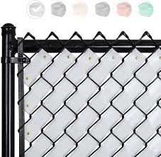 Amazon Com Fenpro Chain Link Fence Privacy Tape Arctic White Garden Outdoor