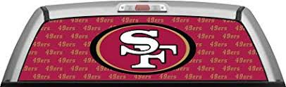 49ers Stamped Burgundy Window Wrap Truck Suv Car Rear Decal Sticker Canvas Tint Amazon Ca Sports Outdoors